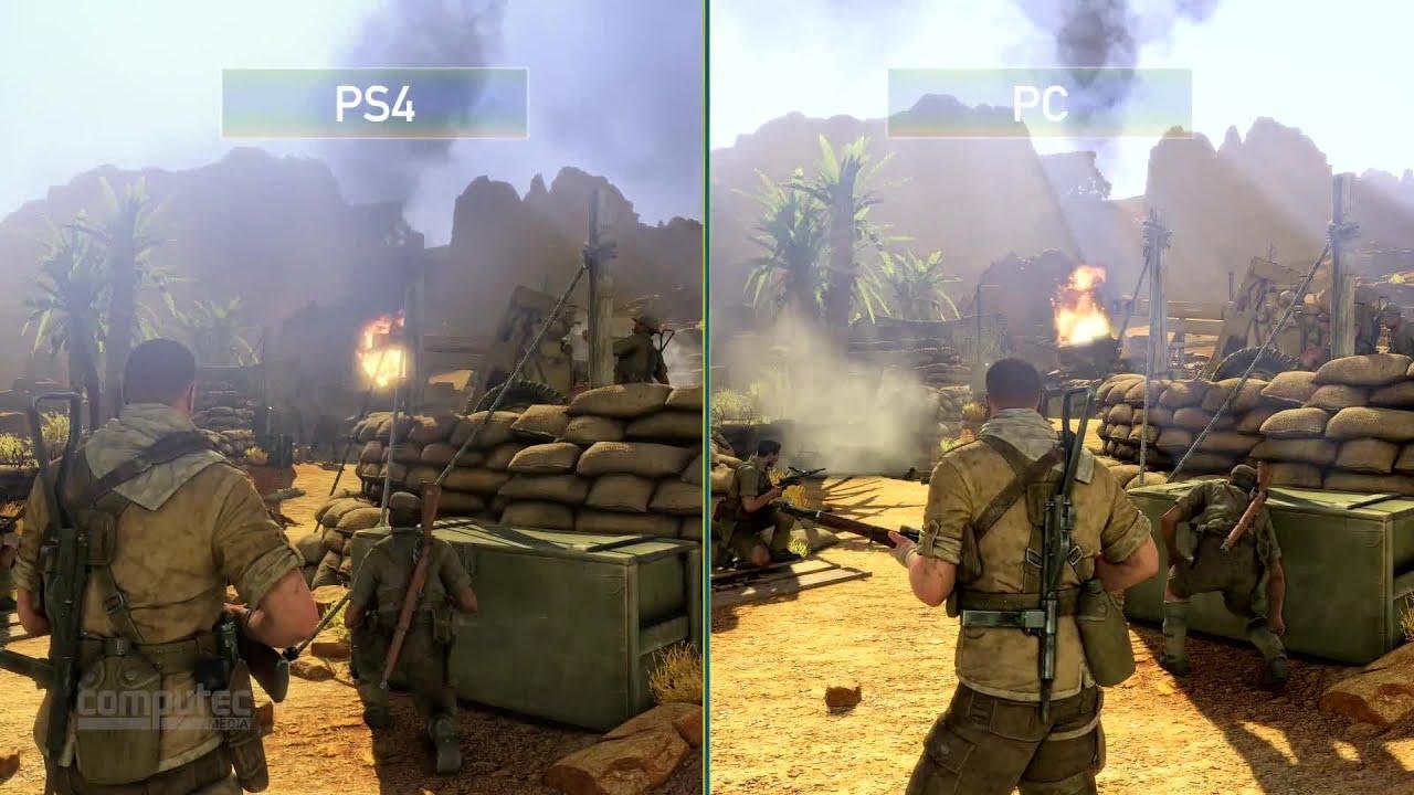 Sniper Elite 3 Pc Versus Ps4 Im Grafikvergleich Youtube