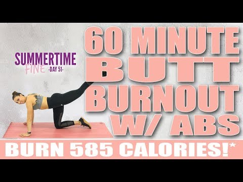 60 Minute Butt BURNOUT With Abs Workout 🔥Burn 585 Calories!* 🔥Sydney Cummings