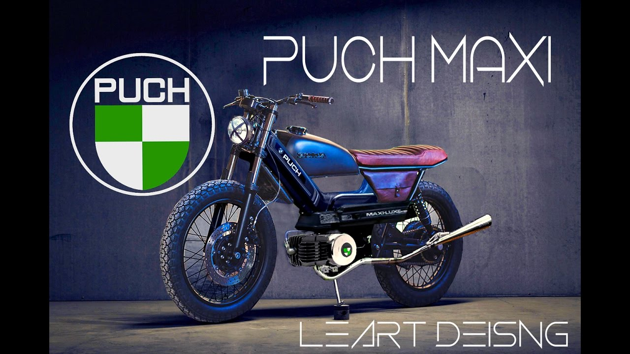 puch maxi cafe racer virtual tuning leart design youtube. Black Bedroom Furniture Sets. Home Design Ideas