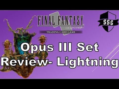 FFTCG Opus III Set Review - Lightning