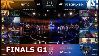 Fnatic vs FC Schalke 04 - Game 1 | Grand Finals S8 EU LCS Summer 2018 | FNC vs S04 G1