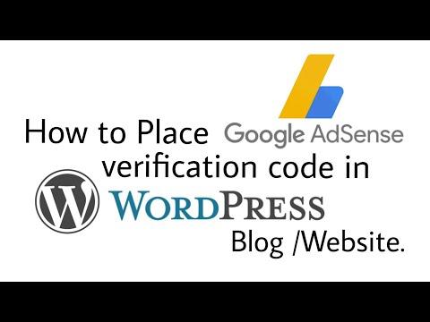 how to verify WordPress site on google adsense (how to add verification code) - 동영상