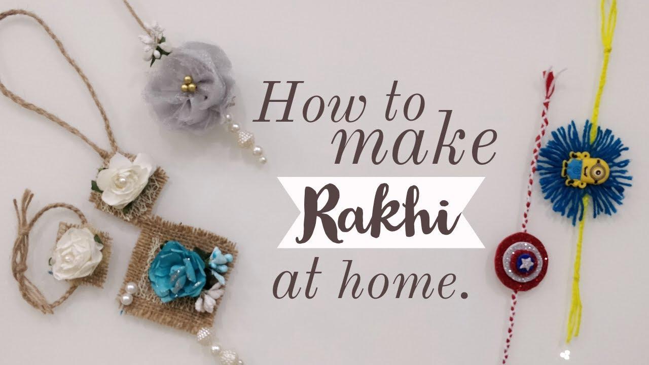 handmade rakhi designs  raksha bandhan 2020  youtube