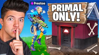 SNEAKING into My Wife's PRIMAL ONLY Tournament! - Fortnite