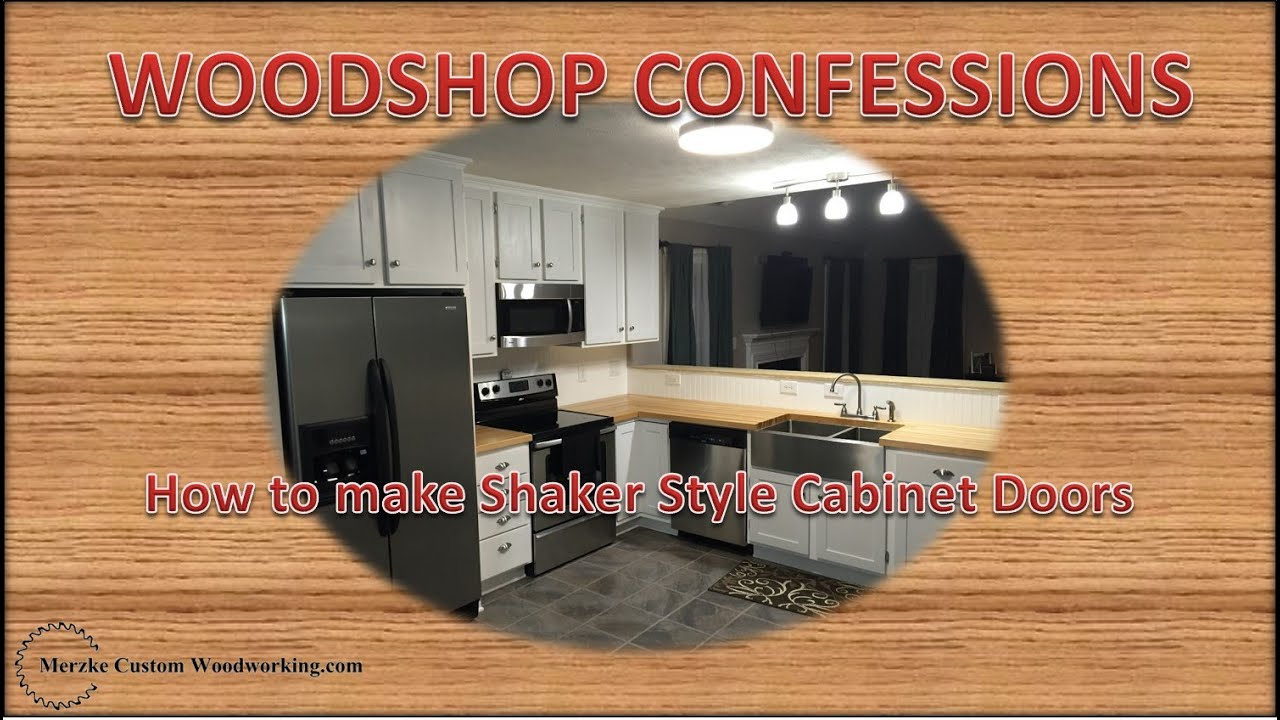 How To Make Shaker Style Cabinet Doors   YouTube