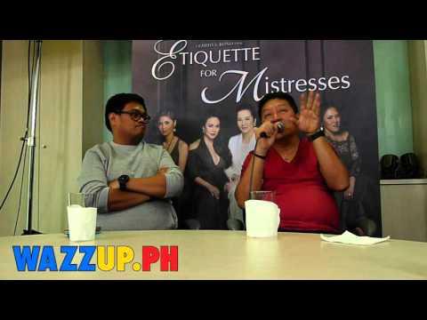 Part 6 Direk Chito Roño Blogcon for the movie Etiquette for Mistresses Blogcon