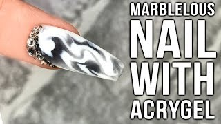 Marble Nails with AcryGel. It