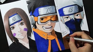 Speed Drawing - Rin | Obito | Kakashi