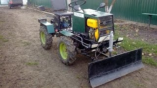 Саморобний отвал на міні трактор