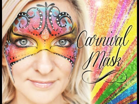 Masquerade Carnivale Carnival Mask Face Painting Makeup Tutorial
