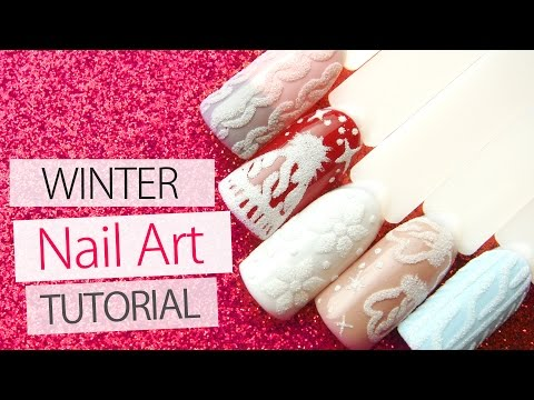 Sweater Nail Art Tutorial for Winter