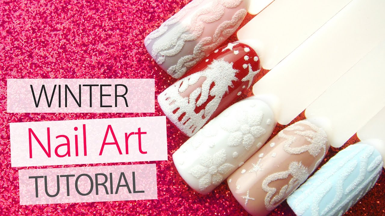 Sweater Nail Art Tutorial Winter Nail Designs