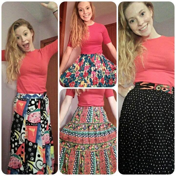 4df12cd31 My Colorful Boho/Vintage Thrifted Skirts Collection Haul + Try On