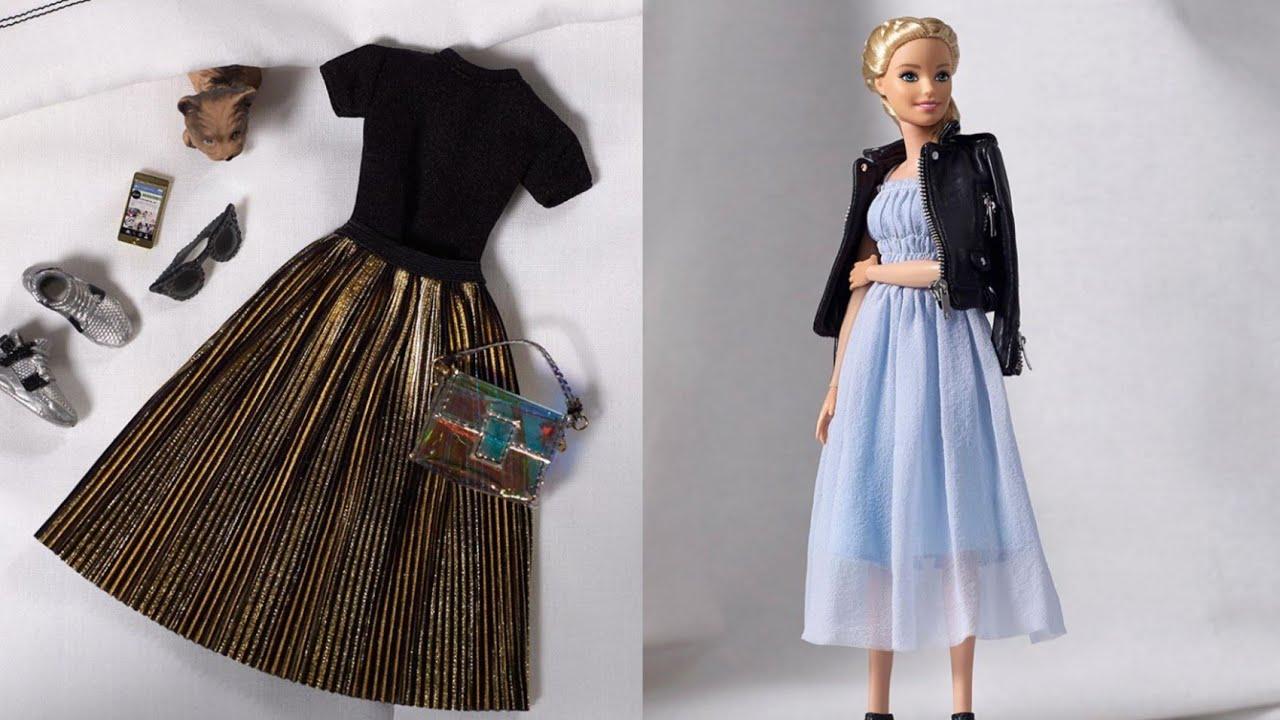 Barbie kıyafet yapımı | DIY | Çoraptan  kendin yap  ~ 5 dakikada hallet / Barbie izle