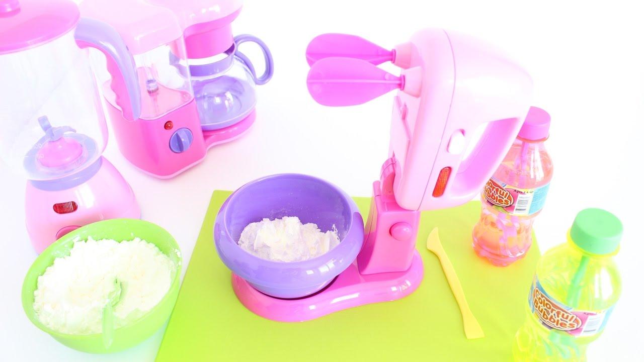 Doll Kitchen Set Pretty Little Kitchen Aid Tiatia Youtube