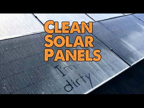 DIY - How to Clean Your Solar Panels the Easy Way (if you dare climb on your roof safely)
