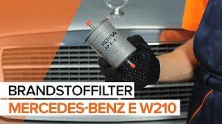 Hoe een brandstoffilter vervangen op een MERCEDES-BENZ E W210 [HANDLEIDING]