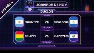 #NTWorlds | ARGENTINA vs NICARAGUA & BOLIVIA vs EL SALVADOR | No Tilt Mundial de Clash Royale.