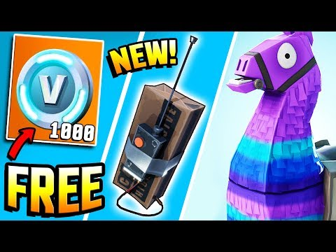 Fortnite - C4 & SUPPLY LOOT LLAMA RELEASED, FREE V BUCKS, 20v20 Mode & JETPACK? - Fortnite Gameplay