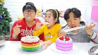 بولام والأصدقاء يلعبون لعبة المطعم !! Boram & friends pretend play restaurant