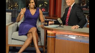 First Lady Michelle Obama's Post-white House Plans - David Letterman Hd