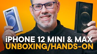 Unboxing iPhone 12 mini & iPhone 12 Pro Max - Hands-On!