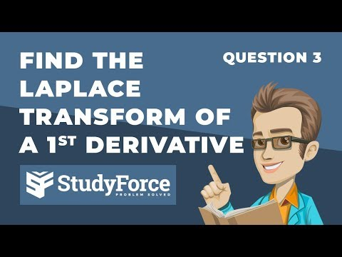 📚 How to find the Laplace Transform of a first derivative function (Question 3)