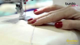 Швейная машинка  Урок 8 защипы двойной иглой