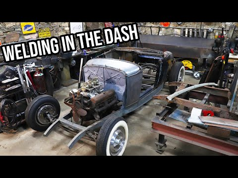 Welding In The Custom Dash - 1930 Ford Model A Hot Rod