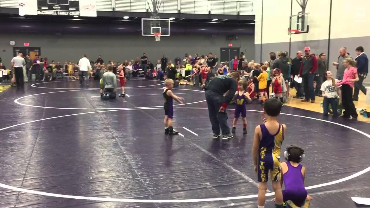 Grayson 5 yo first wrestling meet match 2 youtube