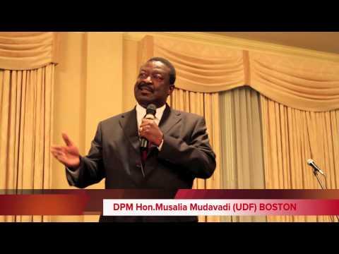 DPM Musalia Mudavadi Boston Speech