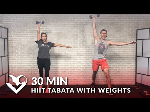 30 Minute HIIT Tabata Workout with Weights - Total Body Workout at Home Dumbbell Training