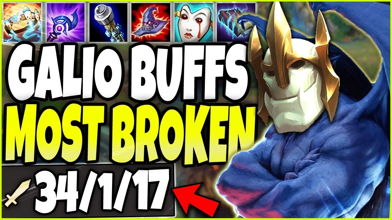 *NEW GALIO BUFFS* CRAZIEST GAME EVER 🔥 MOST BROKEN Galio Season 10 Build 🔥 LoL Galio s10 Gameplay
