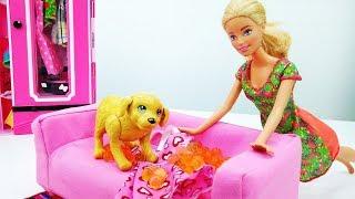 Новое платье для Барби - Видео для девочек