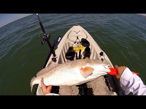 Kayak fishing BTB Galveston TX BA16
