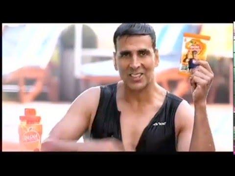 See Akshay Kumar in Rasna Fruit plus swimming advt