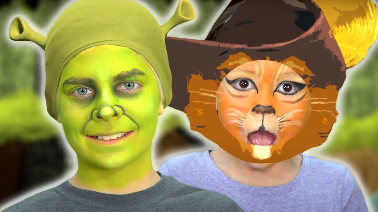 Shrek Face Paint   Shrek Characters   Funtastic TV