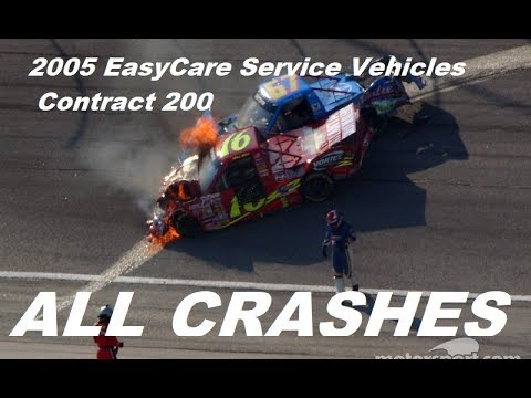 All Nascar Crashes From The  Easycare Vehicle Service Contracts