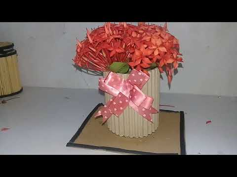 Cara Membuat Vas Bunga Dari Kardus Dengan Mudah