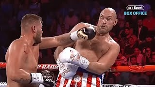 Incredible slow-mo highlights of Tyson Fury's rope-a-dope against Tom Schwarz