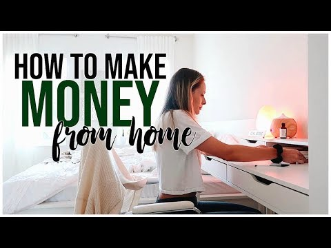 HOW TO MAKE MONEY WORKING FROM HOME   How Much I Make + Ways I Make A Living Online