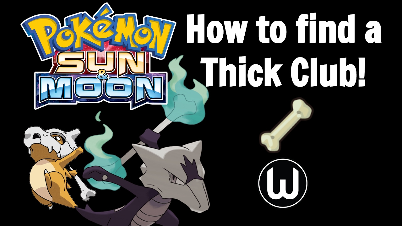 how to find thick club pokemon sun moon guide youtube. Black Bedroom Furniture Sets. Home Design Ideas