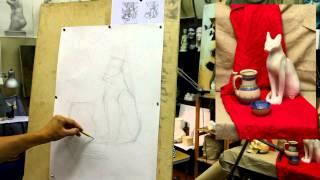 Обучение рисунку. Введение. 21 серия: несложный натюрморт