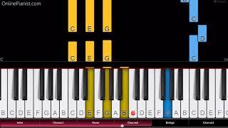 Lil Peep & XXXTENTACION - Falling Down - Easy Piano Tutorial
