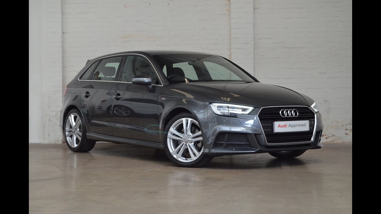 gf66xks audi a3 tfsi s line grey 2016 slough audi youtube. Black Bedroom Furniture Sets. Home Design Ideas