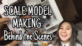 Life of an Interior Design Student VLOG # 6 | Scale Model Making | Philippines