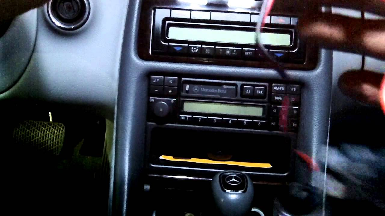 medium resolution of car gps installation hidden wiring lighter socket retained mercedes w208 youtube