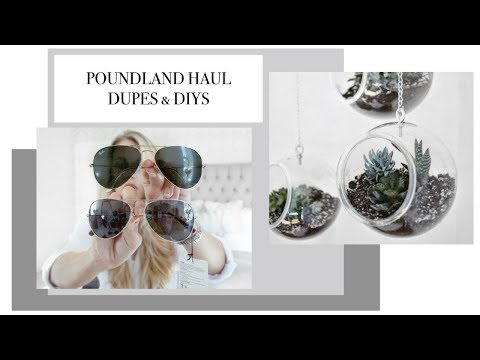 £1 POUNDLAND HAUL & DIY PINTEREST INSPIRED ROOM DECOR HACKS | Freya Farrington