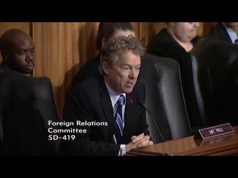 Sen. Rand Paul at SFRC Hearing on ISIS - Feb. 7, 2017