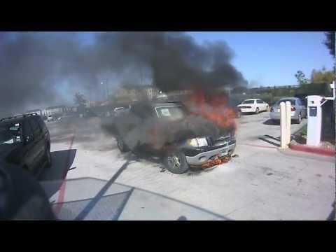 Truck Fire At Carmax - HD